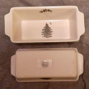 SPODE CHRISTMAS TREE MINI LOAF BAKERS (2)